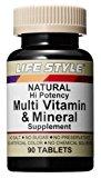 ライフスタイル(LIFE STYLE) マルチビタミン&ミネラル 90粒