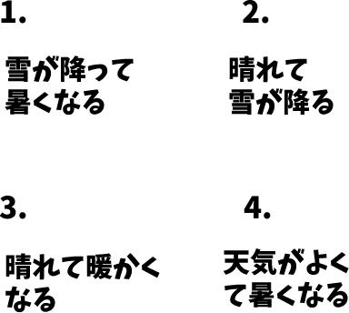 JLPT N4 日本語能力試験N4級聴解練習 130: