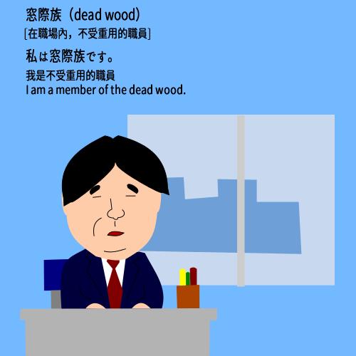 窓際族(まどぎわぞく)madogiwazoku