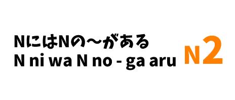 【N2】NにはNの~がある /N ni wa N no ~ ga aru